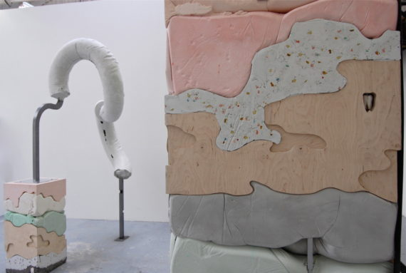 Holly Hendry, Gut Feelings, 2016, Installation view at Royal College of Art, London, UK. Photo: courtesy Baltic Centre for Contemporary Art, Gateshead