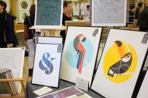 The Lost Fox Stall - Liverpool Print Fair 2017