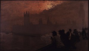Giuseppe de Nittis, Westminster, 1878, private collection. Exhibition Opening: Impressionists In London