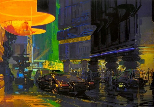 One of Syd Mead's original designs from Blade Runner 1982