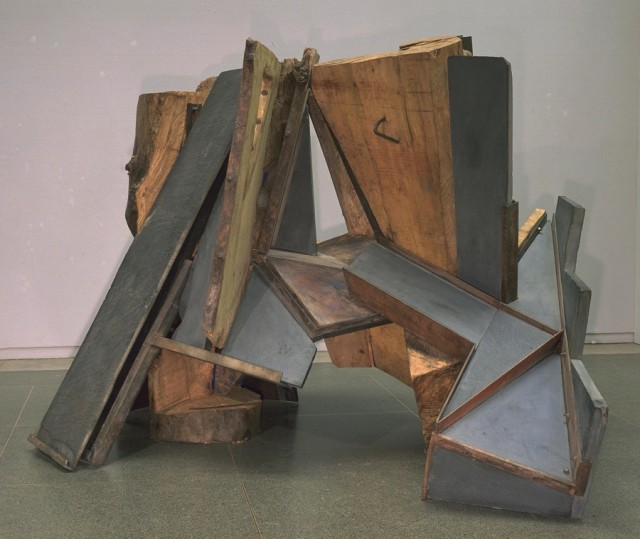 Phillip King, born 1934 Within 1978-9 Elm, slate and metal 2210 x 3200 x 2590 mm Tate. Purchased 1979 © Phillip King