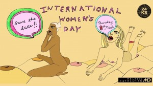 International Women's Day Boogie. Poster artwork by GloMoth