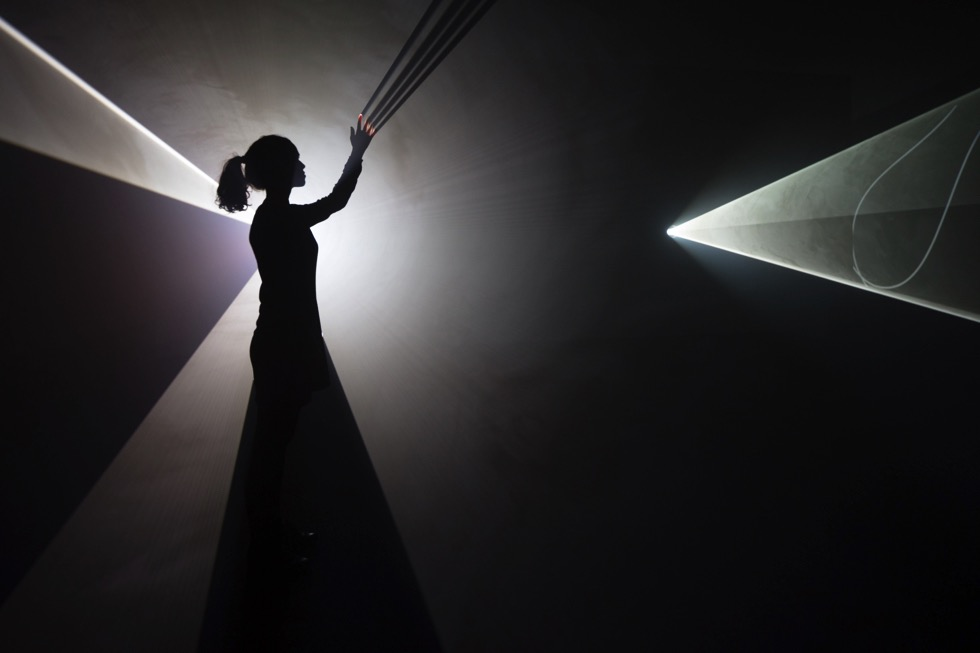 Anthony McCall's Solid Light Works at The Hepworth Wakefield until 3 June 2018. Courtesy the artist and Sean Kelly, New York
