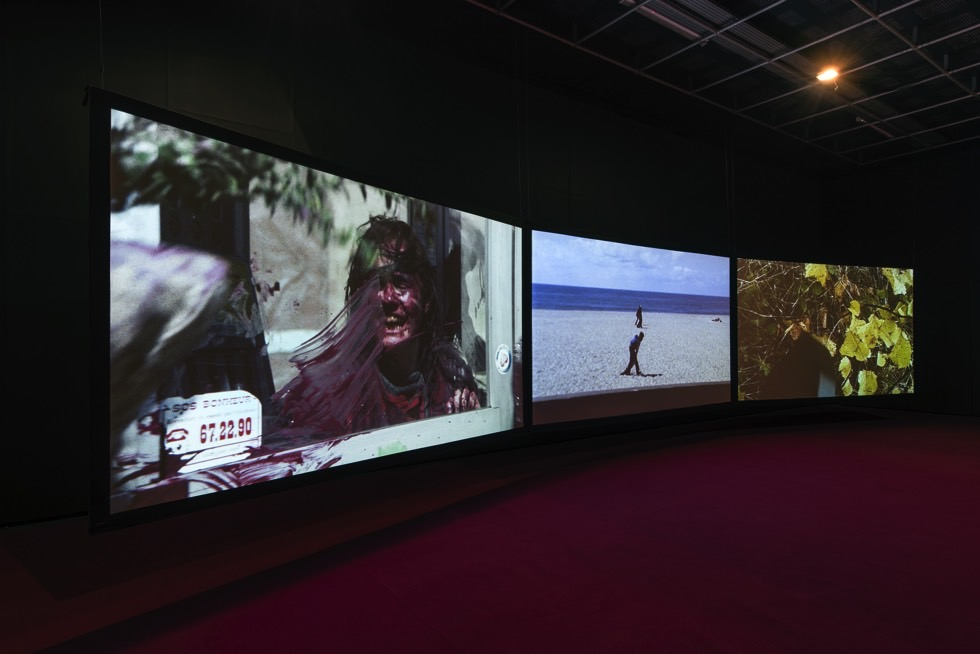 Agnès Varda, 3 moving images. 3 rhythms. 3 sounds, 2018. Installation view at FACT, Liverpool Biennial 2018: Beautiful world, where are you? Photo: Thierry Bal