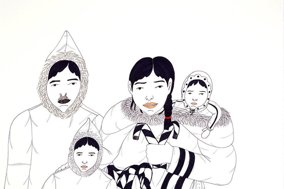 Annie Pootoogook, detail, courtesy the artist