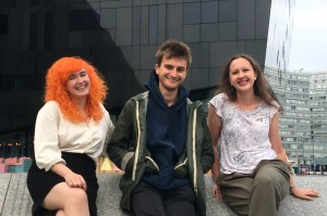 The Double Negative Fellowship 2018 (L-R): Ellie Wiseman, Jacob Bolton and Denise Courcoux