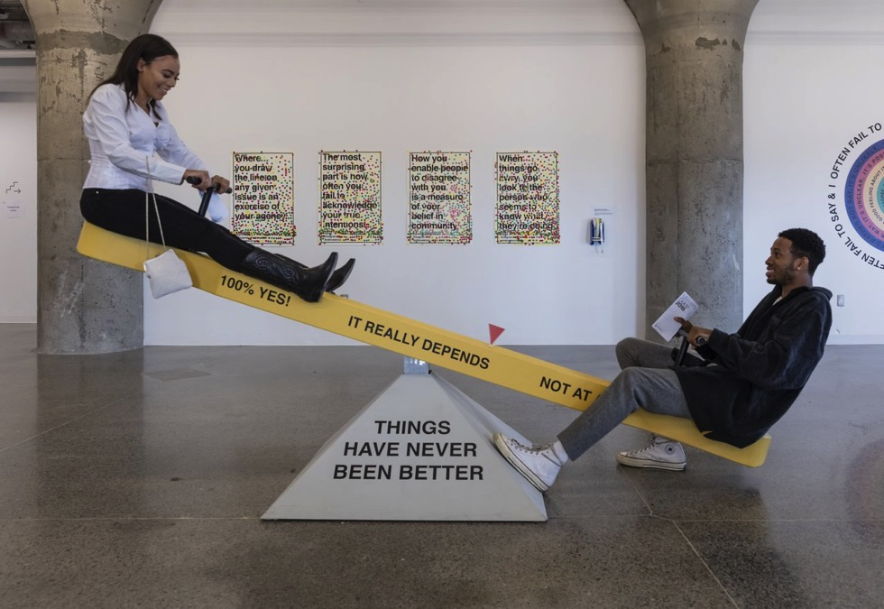 Hiba Abdallah and Justin Langlois, 'Striking a Balance - Rehearsing Disagreement', 2018. Courtesy of Museum of Contemporary Art Toronto. Photo by Toni Hafkenscheid.