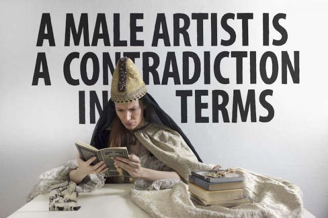 Chiara-Fumai-A-Male-Artist-is-a-Contradiction-in-Terms-2013.-V-A-C-collection