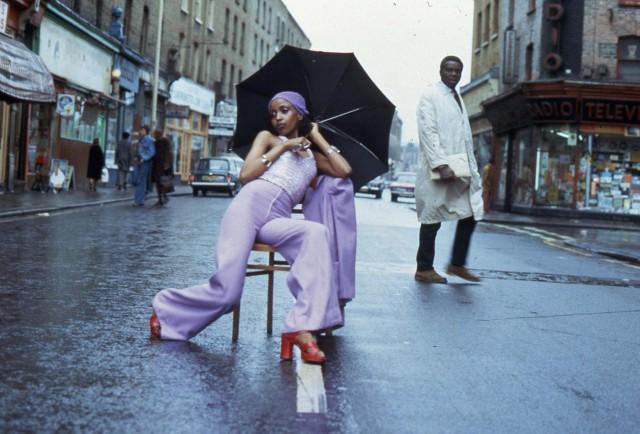 5. Armet Francis, 'Fashion Shoot Brixton Market', 1973. Courtesy of the artist
