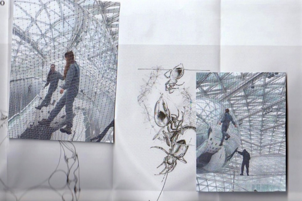 A Spider's Wit: Tomás Saraceno's In Orbit. Illustration by Nina Hanz