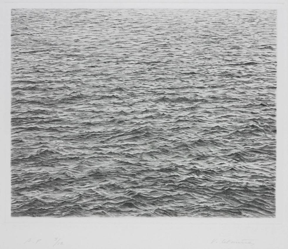 AR00467_10 Vija Celmins Drypoint - Ocean Surface