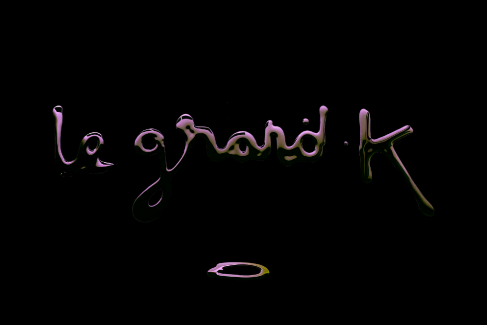 Le Grand K cover artwork visual identity by Farvash