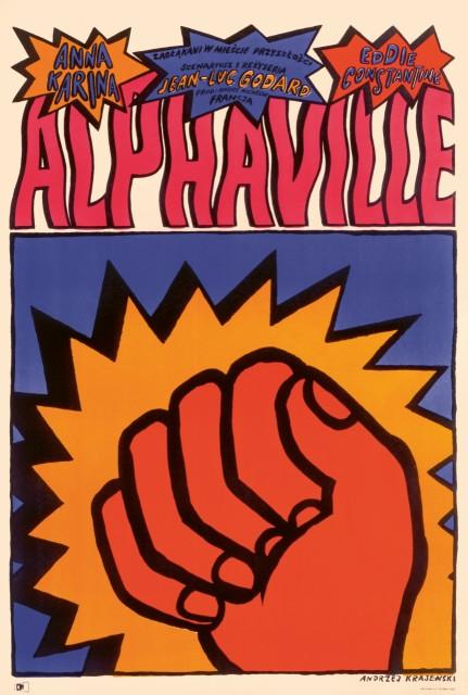 Alphaville (1965), Polish one sheet Andrzej Krajewski. (1)