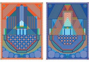 Yelena Popova Keepsafe (I and II) design for two Jacquard woven tapestries 2019.web