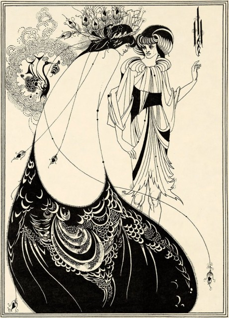 AubreyBeardsley The Peacock Skirt 1893 (pubpished 1907). Stephen Calloway