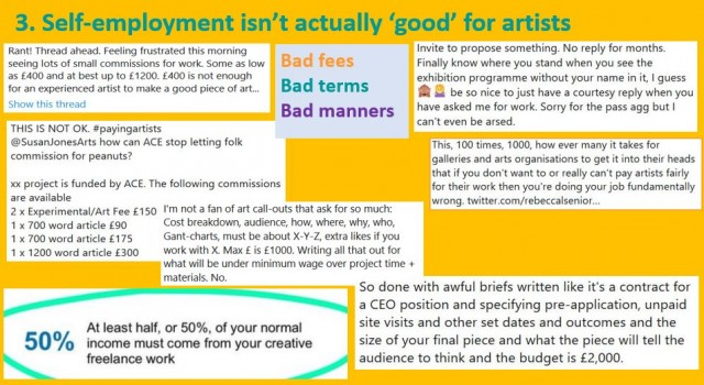 Self employment is bad for artists