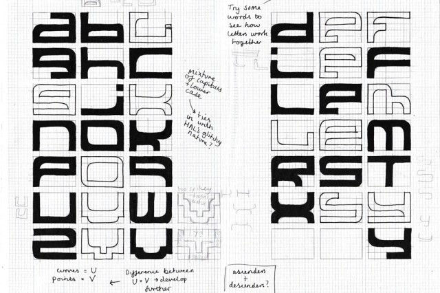 typography sketchbook page