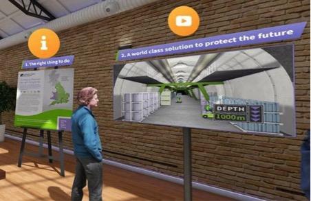 Screenshot, Geological Disposal Facility Virtual Exhibition